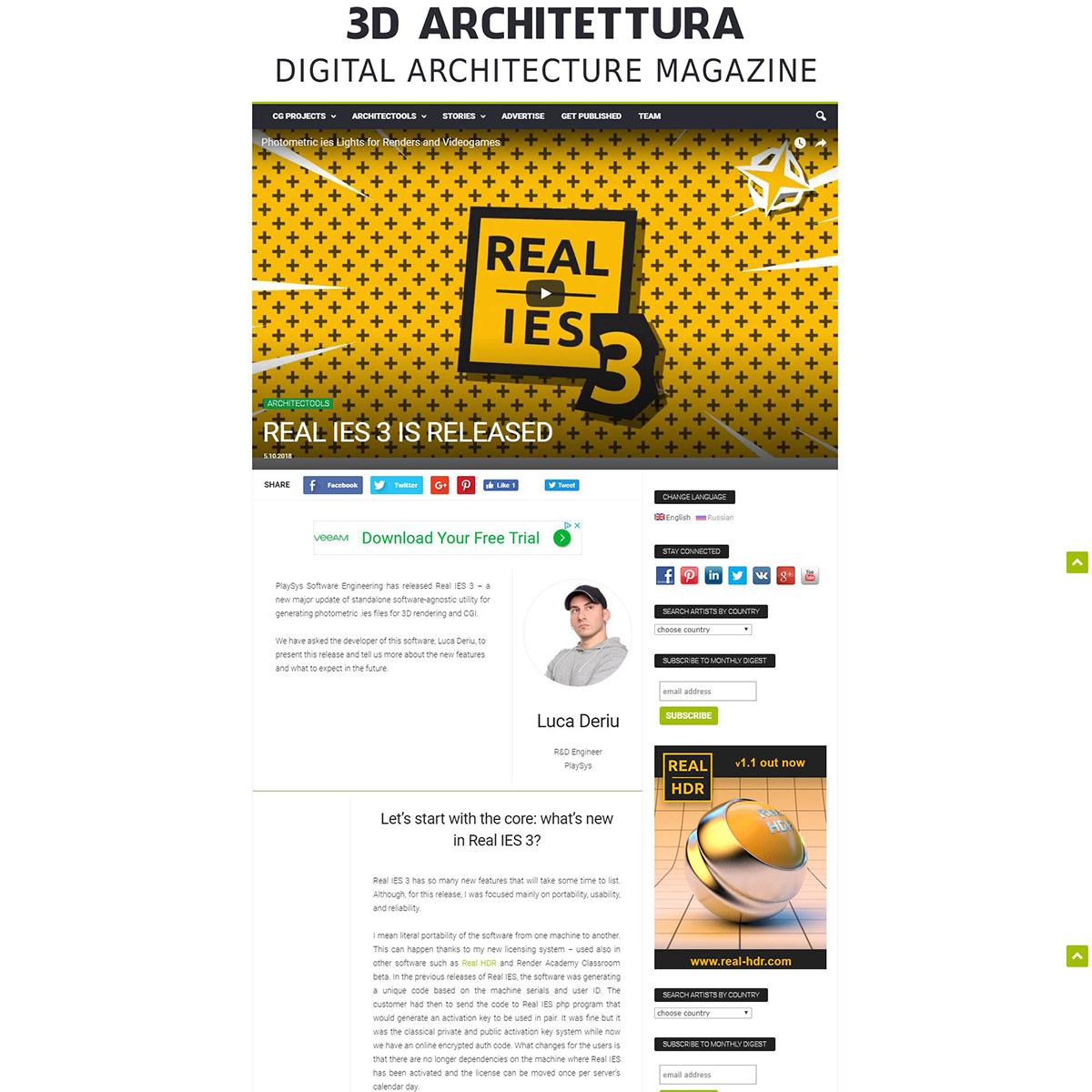 Real IES 3 - 3D Architettura