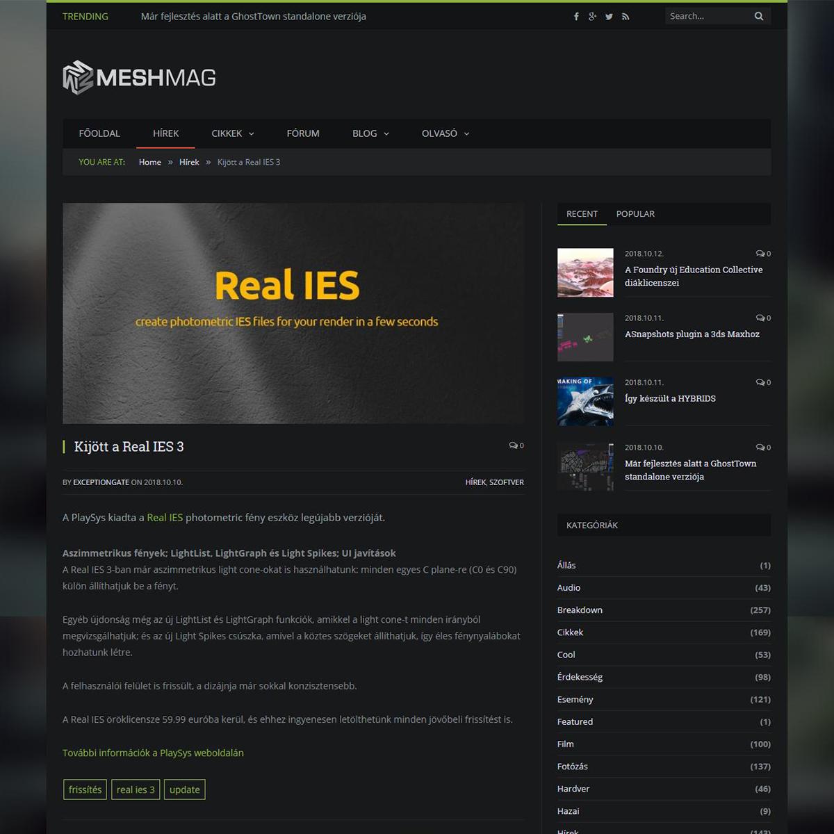 Real IES 3 - Meshmag
